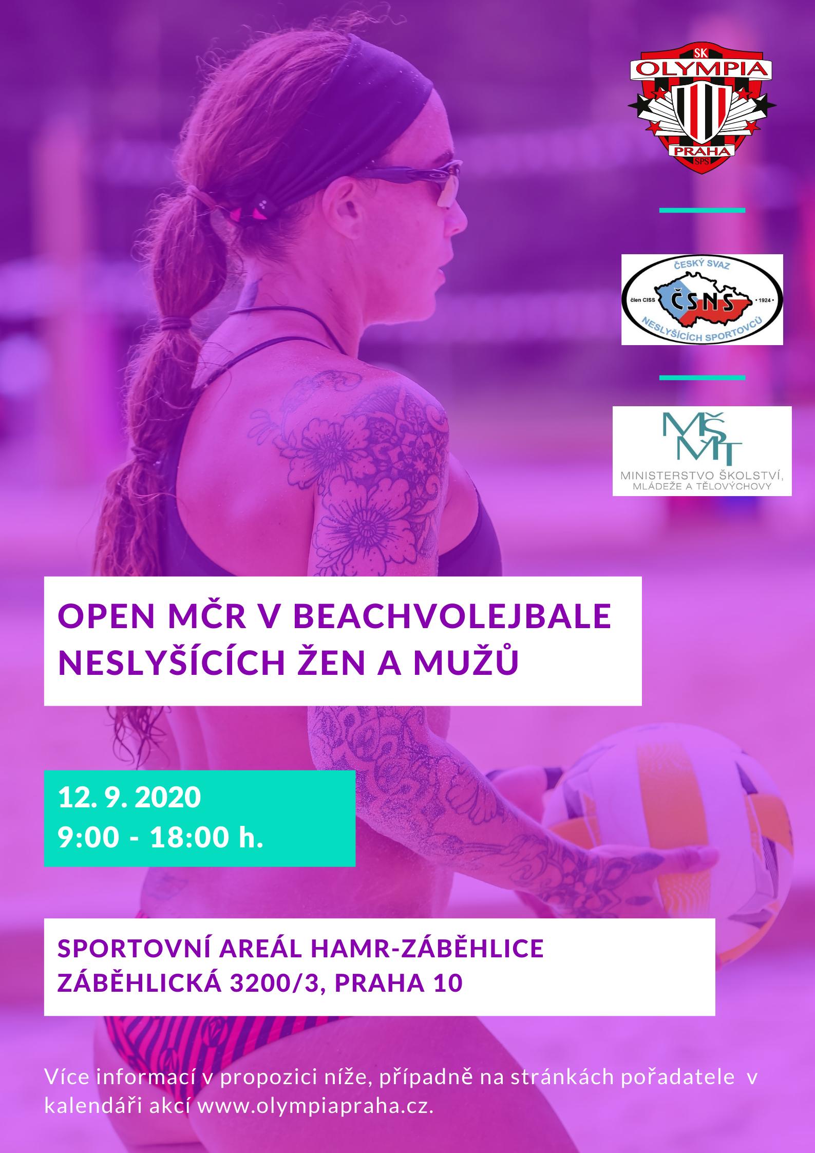 Open MČR v beachvolejbale neslyšících žen a mužů zmena adresy
